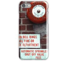 Vintage Sprinkler Alarm in the streets of NYC iPhone Case/Skin