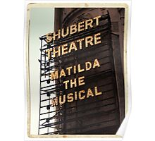 Shubert Theatre, Broadway, NYC- Matilda The Musical - Kodachrome Postcards  Poster
