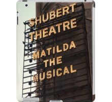 Shubert Theatre, Broadway, NYC- Matilda The Musical - Kodachrome Postcards  iPad Case/Skin