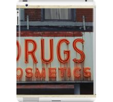 Drugstore Neon Sign in the East Village - Kodachrome Postcards  iPad Case/Skin