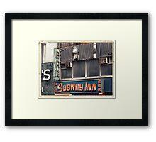 Subway Inn Bar neon sign in Manhattan, NYC - Kodachrome Postcards Framed Print
