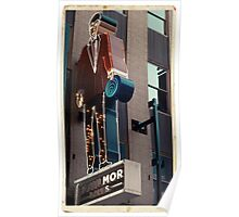 Tailor's shop neon sign in NYC - Kodachrome postcard Poster