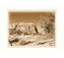 Vintage Utah Desert Art Print
