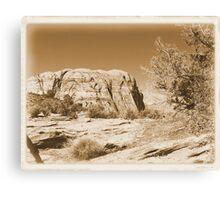 Vintage Utah Desert Canvas Print