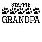 Staffie Grandpa by kwg2200