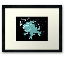 Deep Sea Kog'Maw Ink Black Framed Print