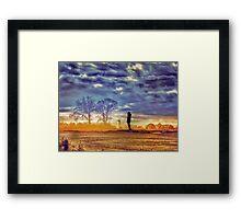 Sunset Contemplation Framed Print