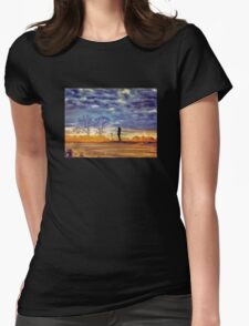 Sunset Contemplation Womens Fitted T-Shirt