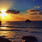 Sunset at Trebarwith Strand by David Wilkins