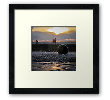Splashes at Sunset Framed Print