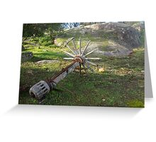 Abandoned Spokes Greeting Card