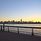 Enjoying The Sunrise From Pier A Hoboken NJ by pmarella
