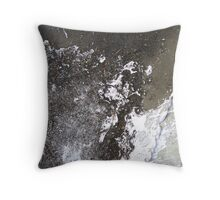 Junkyard Abstract Throw Pillow