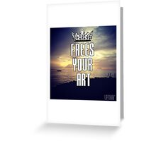FYA - Frees Your Art #3 Greeting Card
