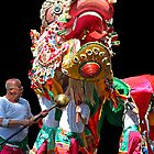 Sun Loong Chinese Dragon - Easter Parade, Bendigo by Bev Pascoe