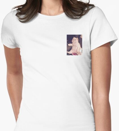 I'm Not Really A Cat. Womens Fitted T-Shirt