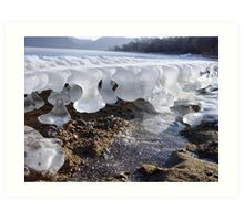 Time reflected in melting and freezing ice Art Print