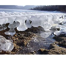 Time reflected in melting and freezing ice Photographic Print