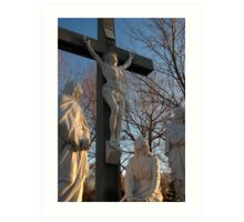 Jesus and Mother Mary Art Print