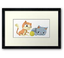 sweet kittens Framed Print