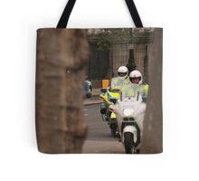 The cops, framed. Tote Bag