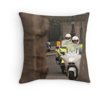 The cops, framed. Throw Pillow
