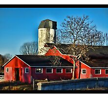 Red Barn Photographic Print