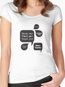 Thank you on blackboards Women's Fitted Scoop T-Shirt