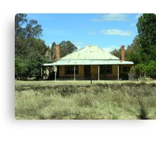 A retired Aussie country home Canvas Print