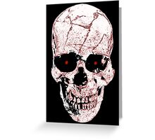 Evil Skull Greeting Card