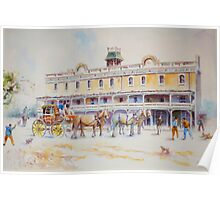 Horse Carriage at Albion Hotel, Forbes Poster