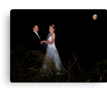 Love Under the Moon Canvas Print