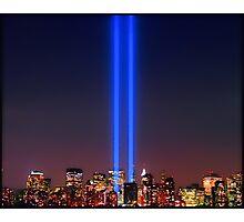 911 WTC Tribute in Light Photographic Print