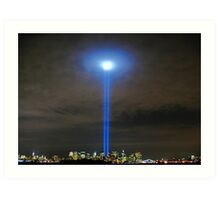 911 WTC Tribute in Light Art Print