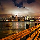 Low Clouds Hang Over New York City by Scott  Hudson
