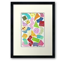 FIGURES OUT GREETING CARDS CARDBOARD Framed Print