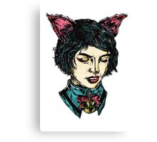 Cat Girl - I think I have Super Powers Canvas Print