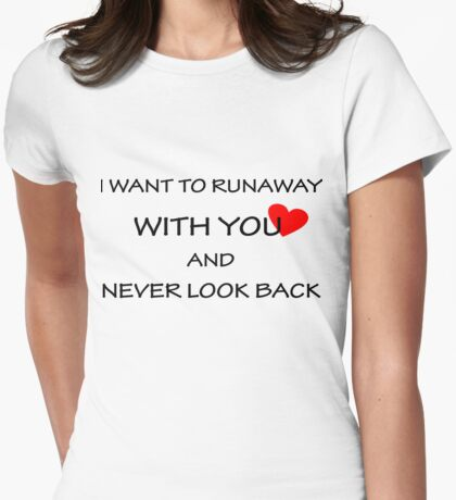 with you Womens Fitted T-Shirt