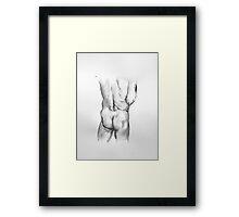 Male Buttocks study Framed Print