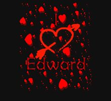 I Love Edward Womens Fitted T-Shirt