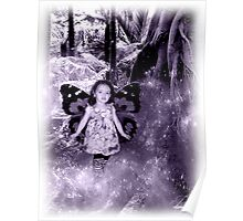 Faerie Princess in Her Forest Poster