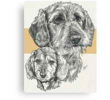 Dachshund, wire-haired, Father & Son Canvas Print