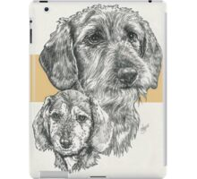 Dachshund, wire-haired, Father & Son iPad Case/Skin
