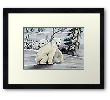 Polar Cubs Framed Print