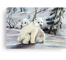 Polar Cubs Canvas Print