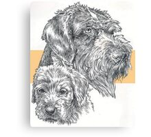 German Wire-haired Pointer, Father and Son Canvas Print
