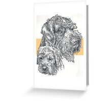 German Wire-haired Pointer, Father and Son Greeting Card