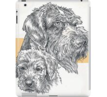 German Wire-haired Pointer, Father and Son iPad Case/Skin