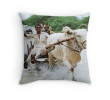 Rural Go Carting!!! Throw Pillow