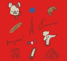 Bonjour Paris Kids Tee